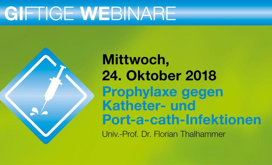 Prophylaxe gegen Katheter- und Port-a-cath-Infektionen