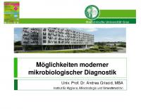 Möglichkeiten moderner mikrobiologischer Diagnostik