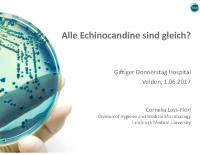 Alle Echinocandine sind gleich?