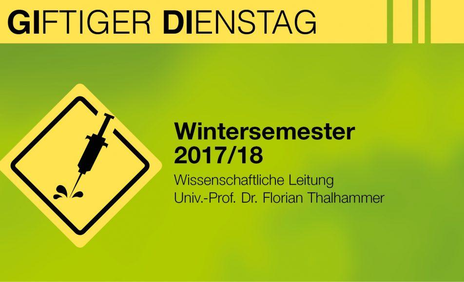 Giftiger Dienstag Wintersemester 2017/18
